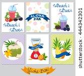 set on a summer theme card.... | Shutterstock .eps vector #444342301