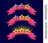 cartoon stars rank on pink...