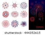 Set Of Fireworks Design