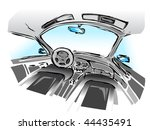 vector car dashboard and... | Shutterstock .eps vector #44435491
