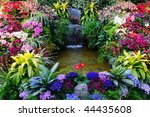 Flowers And Waterfall Inside...