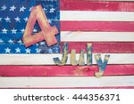 4 july happy independence day | Shutterstock . vector #444356371