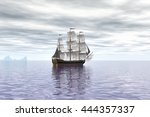 Old French Ship In The Vast...