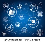 data analytics icons and... | Shutterstock .eps vector #444357895