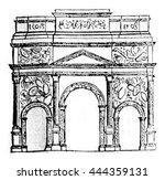 triumphal arch of orange ... | Shutterstock . vector #444359131