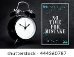 black alarm clock isolated on... | Shutterstock . vector #444360787
