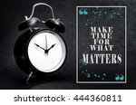 black alarm clock isolated on... | Shutterstock . vector #444360811