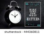 black alarm clock isolated on... | Shutterstock . vector #444360811