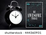 black alarm clock isolated on... | Shutterstock . vector #444360931