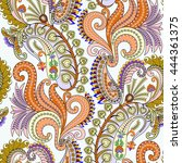 seamless colorful pattern with... | Shutterstock .eps vector #444361375