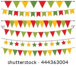 bunting flags christmas | Shutterstock .eps vector #444363004