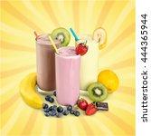 milk. | Shutterstock . vector #444365944