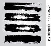 set of black grunge...   Shutterstock .eps vector #444368227