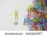 individual paperclip  going in ... | Shutterstock . vector #444369397