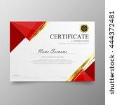 red certificate diploma...   Shutterstock .eps vector #444372481
