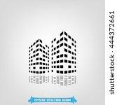 building icon vector... | Shutterstock .eps vector #444372661