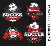 vector set badges logos red for ... | Shutterstock .eps vector #444384121