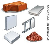 a set of building materials for ... | Shutterstock .eps vector #444389701