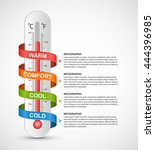 infographics thermometer... | Shutterstock .eps vector #444396985