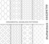 ornamental seamless patterns. 8 ... | Shutterstock .eps vector #444399799