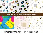 collection of hipster retro... | Shutterstock .eps vector #444401755