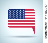 vector icon with american flag... | Shutterstock .eps vector #444402247