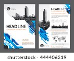 brochure template design.... | Shutterstock .eps vector #444406219