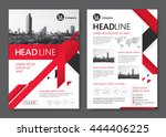 brochure template design.... | Shutterstock .eps vector #444406225
