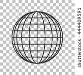 earth globe sign. dark gray... | Shutterstock .eps vector #444409591