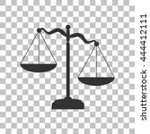 scales of justice sign. dark... | Shutterstock .eps vector #444412111