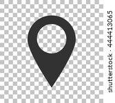 mark pointer sign. dark gray... | Shutterstock .eps vector #444413065