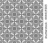 seamless vector retro pattern.... | Shutterstock .eps vector #444419305