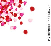 Stock vector rose petals background for presentations invitation ad print wedding valentine love concept 444426379