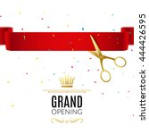 grand opening design template... | Shutterstock .eps vector #444426595