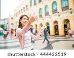 woman take selfie in macao city | Shutterstock . vector #444433519