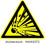 warning sign | Shutterstock . vector #44443372
