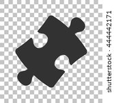 puzzle piece sign. dark gray...
