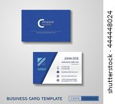vcard business card set blue.... | Shutterstock .eps vector #444448024