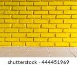 Yellow Brick Wall Texture...