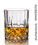 Glass Of Whiskey Isolated On...