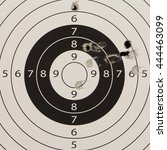 Small photo of target center accuracy shot