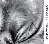 black and white feathers... | Shutterstock .eps vector #444465829