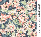 pretty daisy print   seamless...   Shutterstock .eps vector #444466441
