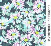 pretty daisy print   seamless... | Shutterstock .eps vector #444466444