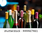 wine bottle. | Shutterstock . vector #444467461