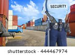 security guard | Shutterstock . vector #444467974