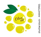 the drops of olive oil for your ... | Shutterstock .eps vector #444475981