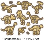 vector collection of dinosaur... | Shutterstock .eps vector #444476725