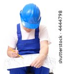 female civil engineer wearing... | Shutterstock . vector #4444798