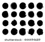 vector grunge circle collection